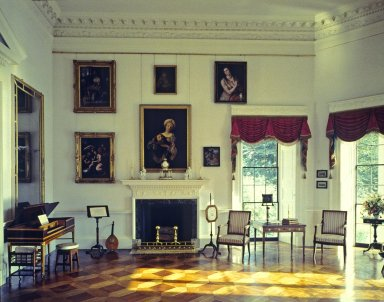 Monticello, Parlor, South wall