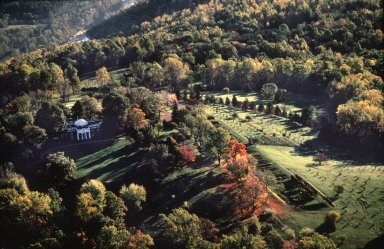 Monticello, West Front, aerial