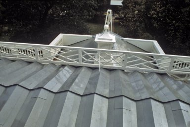 Monticello, roof restoration, terrace roof completed