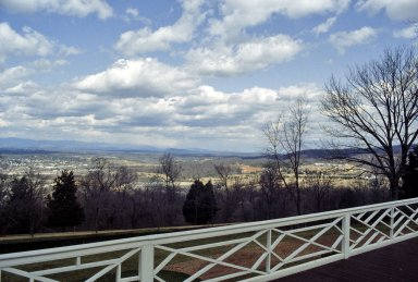 Monticello, view from North Terrace