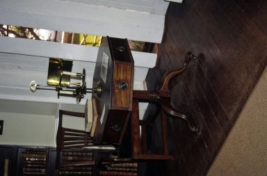 Monticello, Library, rent table, restored