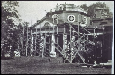 Monticello, restoration, 1924 replacement of roofing