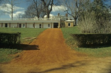 Monticello, recreated path through kitchen yard to Mulberry Row
