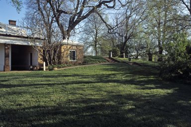 Monticello, kitchen yard, piazza, privy and East Lawn