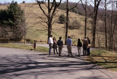 Monticello, planning meeting for entrance gateway