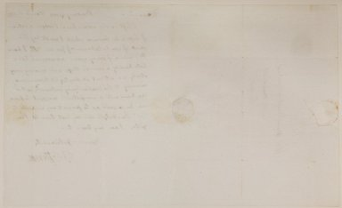 Th. Jefferson, Bowling Green, March 8, 1790, to Thos. Mann Randolph junr Esq at the Haymarket, Richmond, verso
