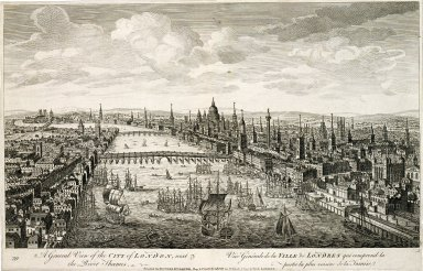 A General View of the City of London, next to the River Thames