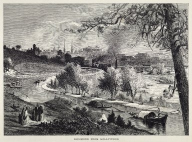 Richmond from Hollywood Cemetery, engraving