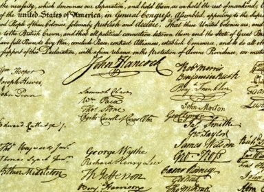 Declaration of Independence, signatures