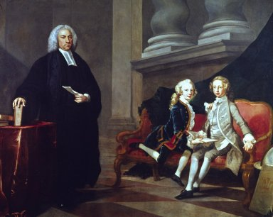 Francis Ayscough with the Prince of Wales (later George III) and Edward Duke of York and Albany