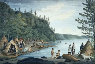 Indian Encampment in Quebec