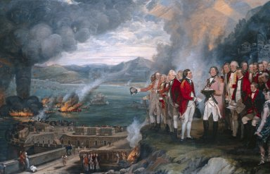 General Eliot and his Officers, Gibraltar 1782