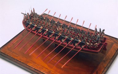 Model of a flat bottomed landing craft