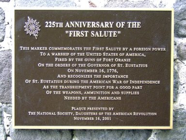 "25th Annivesary of the ""First Salute"", plaque"
