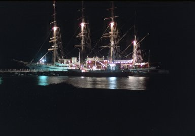 St. Kitts, Sailing Ship with Lights
