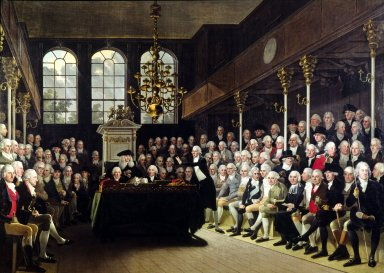 William Pitt Addressing the House of Commons on the French Declaration of War, 1793