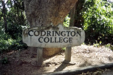 Codrington College sign