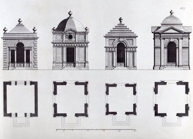 Gibbs, James; Plate 77, Eight Square Pavillions for my Lord Cobham and others