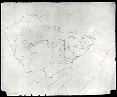Monticello, plat of estate lands, recto