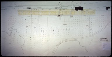 Monticello, archaelogy map of vegetable garden and Mulberry Row