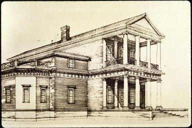 Monticello, First House, artist rendition