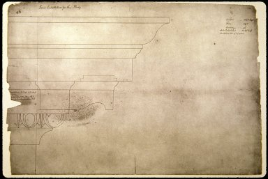 Monticello, architectural detail, study