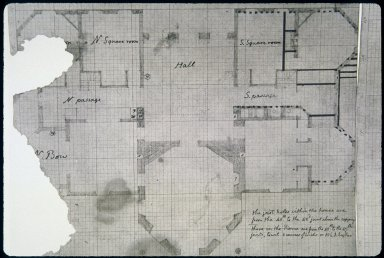 Monticello, first floor, plan