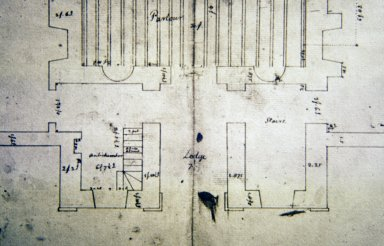 Monticello, First House, floor plan