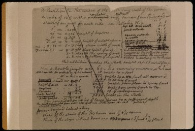 Monticello, farm book notes, page 3 of 3, detail