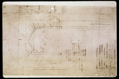 Monticello, mountaintop layout, study