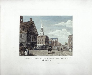 Second Street, North from Market Street and Christ Church, Philadelphia
