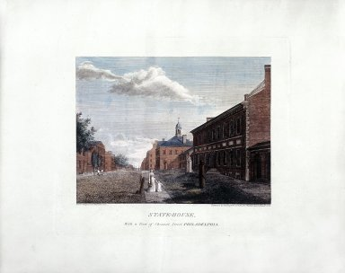 State-House, with a View of Chestnut Street, Philadelphia