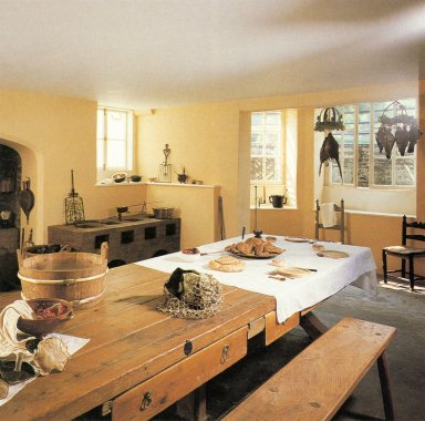 Kitchen at the Ham House, near Richmond, Surrey