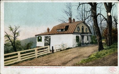 Weaver's Cottage at Monticello ca. 1905, Postcard