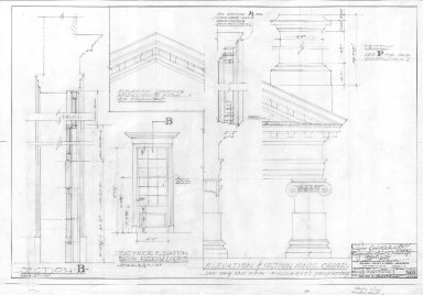 Monticello, Ionic Order Details, Bow Doors