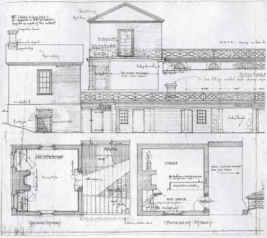 Monticello, Grigg Restoration Elevation Drawings
