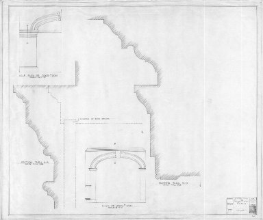 Monticello, Dining Room and Library Details, measured drawing