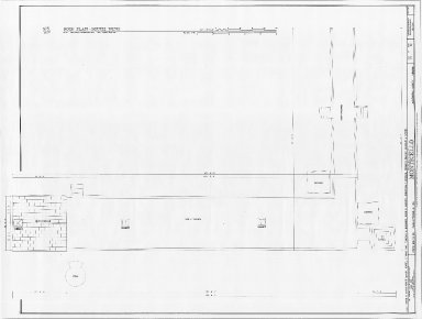 Monticello, South dependencies, roof plan