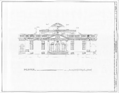 Monticello, East Elevation