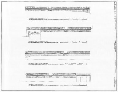 Monticello, North and South Passages, East and West elevations
