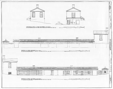 Monticello, South Terrace, elevations