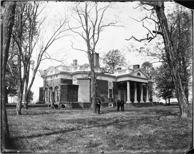 Monticello, East Front, by Holsinger