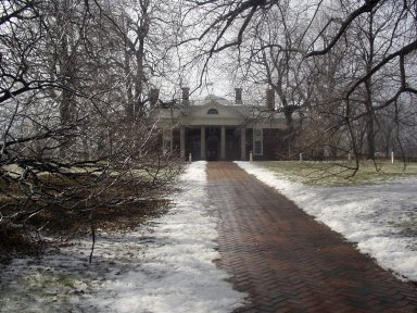 Monticello, east walk and elevation