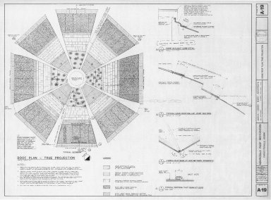Monticello Roof Restoration, Dome Roof Details, drawing no. A-19