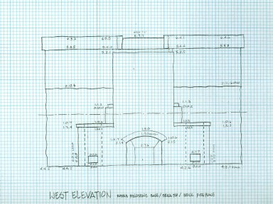 West Elevation, Laundry Elevations, North Terrace, sheet 3 of 5, detail