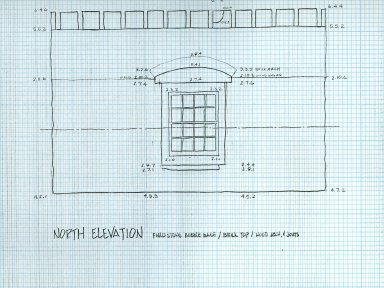 North Elevation, Laundry Elevations, North Terrace, sheet 3 of 5, detail
