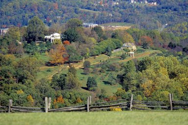 Monticello, West Front, from Montalto