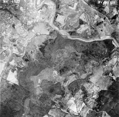 Monticello and Montalto, aerial view