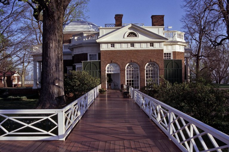 Monticello, South Piazza, from South Terrace