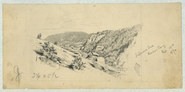 Jefferson's Rock, Harper's Ferry, Sep. 12th, 1870